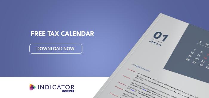 Free tax calendar